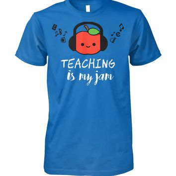 Teaching is my Jam Funny Shirt for Teacher Men Women, Funny Gifts, Men Women Tops
