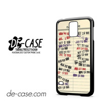 Library Due Date For Samsung Galaxy S5 Case Phone Case Gift Present