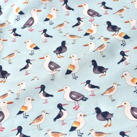 Seaside Gulls Cotton Fabric T15 Light Blue 112cm - Branded Collections - 100% Print Cottons - Quilting & Craft Fabrics - Fabric - Abakhan