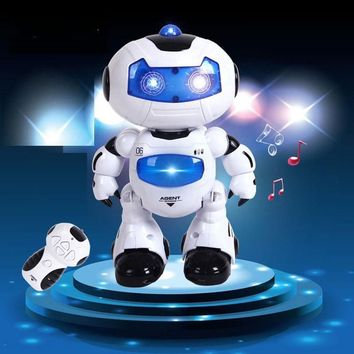 RC Robot Toy Remote Control Musical Electronic Toy Walk Dance Lightenning Robot Christmas Birthday Gift Toy For Child Kid Boy