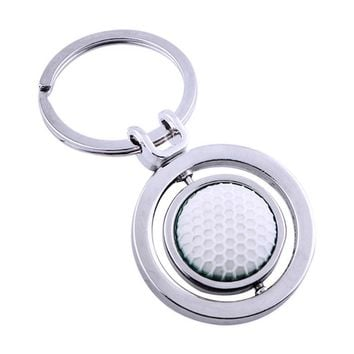 Rotary Rubber Golf Ball Keychain