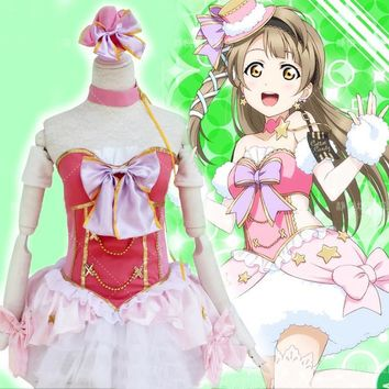 Anime LoveLive! Love Live Medley Festival Kotori Minami Maid Uniform Cosplay Costumes Full Set Angel Princess Lolita Dress