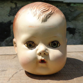 Tiny Tears Doll Head, American Character - 1950s