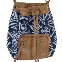 Aztec Cinched Bucket Bag Purse LT201