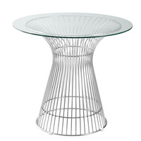 "Libo Dining Table 30"", Clear"