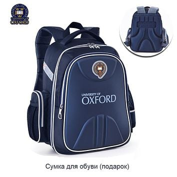 UNIVERSITY OF OXFORD children student/books/orthopedic school bag backpack portfolio rucksack for boys girls for class 1-3