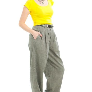 Vintage 90's Houndstooth Check Trousers - L