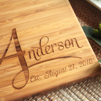 Personalized Family Bamboo Cutting Board