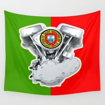 Portuguese Biker Wall Tapestry by Tony Silveira