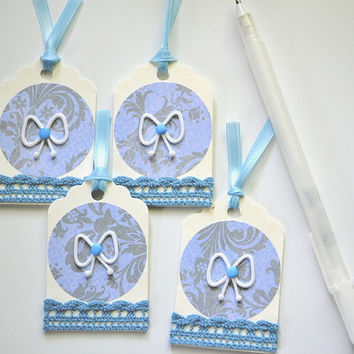 Embellished Tag, Baby Shower Tag, Decorated Tag, Journaling Spot, Birthday Tags, Gift Party Favor Tags, Scrapbooking Journal Tags