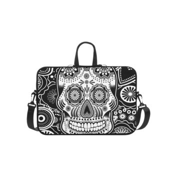 Personalized Laptop Shoulder Bag Sugar Skull Macbook Pro 15 Inch