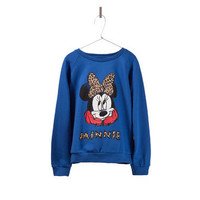 MINNIE WITH ANIMAL PRINT SWEATSHIRT - Sweatshirts - Girl - Kids - ZARA United States