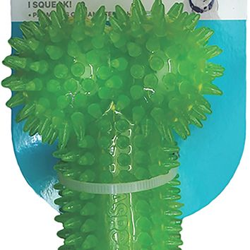 ASPCA Squeaky Spiked Bone Dog Toy-Green