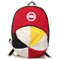 Creative Big Classical Hat Canvas Backpack (Colorful)