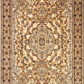 3877 Ivory Carved Oriental Area Rugs