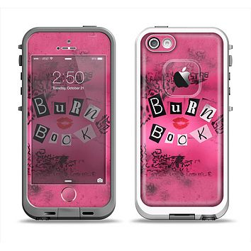The Burn Book Pink Apple iPhone 5-5s LifeProof Fre Case Skin Set
