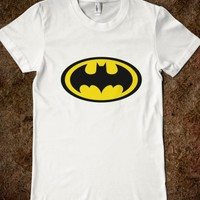 BATMAN LOGO INSPIRED BLACK AND YELLOW T SHIRT TOP