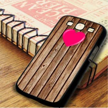 Wood Heart Samsung Galaxy S3 Case