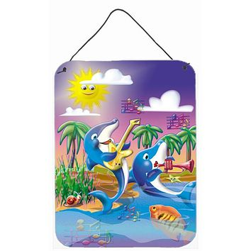 Dolphin's Playing Music Wall or Door Hanging Prints APH2485DS1216