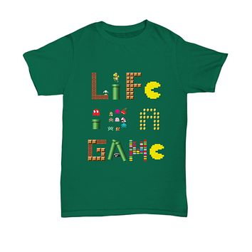 Life Is A Game Video Games Vintage Classic Gamer T-Shirt