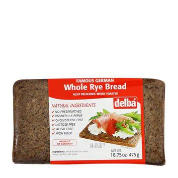 Delba Whole Rye Bread, 16.7 oz (475 g)