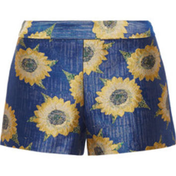 Alice + Olivia Floral-jacquard shorts – 50% at THE OUTNET.COM