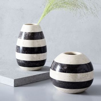 Striped Marble Bud Vases
