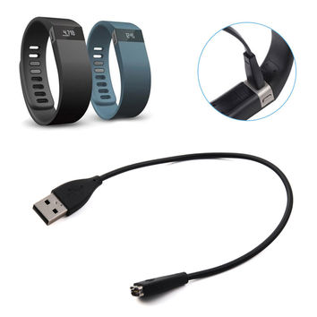 FW1S 30cm USB Power Charger Charging Cable Cord for Fitbit Charge HR Wristband Bracelet Black