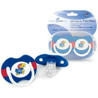 Kansas Jayhawks NCAA Baby Pacifiers (2 Pack)
