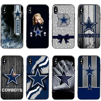Marilyn Monroe Dallas Cowboys Jersey Black Soft Silicone TPU Phone Case for iphone 5s SE 6 6s 7 8 Plus X XR XS Max 5.8 6.1 6.5