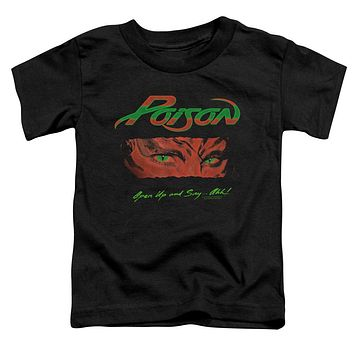 Poison Toddler T-Shirt Open Up and Say Ahh Black Tee