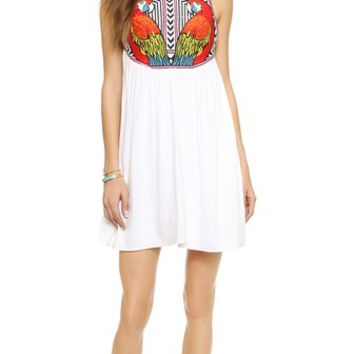 Mara Hoffman Embroidered Swing Dress
