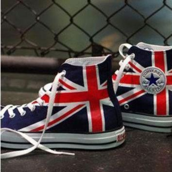 ICIKGQ8 uk flag union jack converse sneakers hand painted