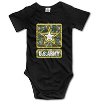 U.S. Army Logo Design Camo Logo Funny Cool Baby Onesuit Newborn Clothes Outfits