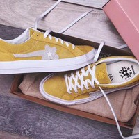 DCCKUN6 Converse one star X Golf Le Fleur 'Yellow' Sneaker