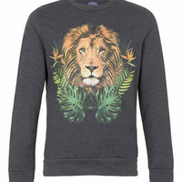 Charcoal Lion Printed Sweatshirt - New This Week - New In