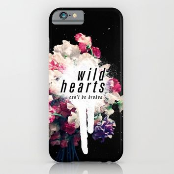 wild hearts iPhone & iPod Case by Much Wow