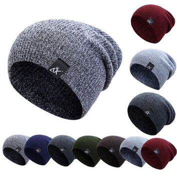 hirigin Men's Women's Winter Hat Knitted Wool Beanie Female Fashion Casual Outdoor Mask Ski Caps Thick Warm Hats for Women men