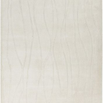 Wave Solids and Borders Area Rug Neutral