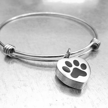 Cremation Pet Bracelet, Urn Bracelet, Ashes Holder Bracelet, Memory Bracelet, Cremation Jewelry