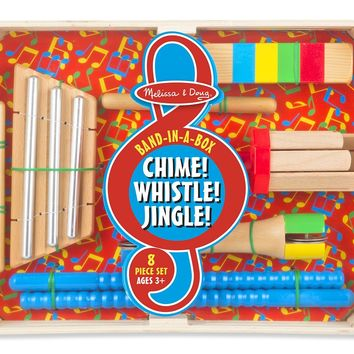 Melissa and Doug Band-in-a-Box Chime! Whistle! Jingle! Set