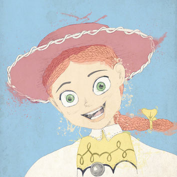 Jessie the Yodeling Cowgirl (TOY STORY) Stretched Canvas by Guiltycubicle   Society6