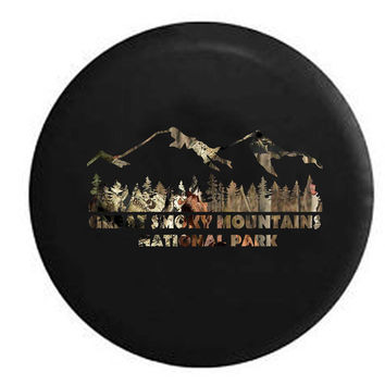 Great Smoky Mountains Landscape RV Camper Jeep Spare Tire Cover
