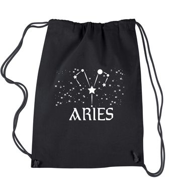 Aries Zodiac Star Chart  Drawstring Backpack