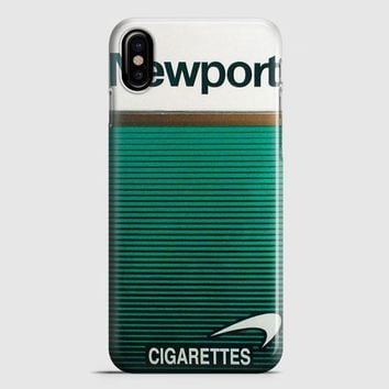 Newport Cigarette Green iPhone X Case