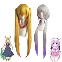 Kobayashi san Chi no Maid Dragon Wig Cosplay Costume Miss Kobayashi's Dragon Maid Kanna Kamui Tooru Tohru Synthetic Hair Wigs