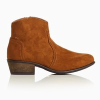 Brown-Faux-Suede-Ankle-Boot