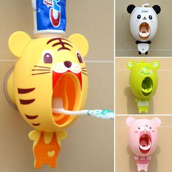 For Kids  Cartoon animals Design Set Cartoon bathroom household Toothbrush Holder