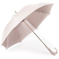 Fantasia Cream/White Polka Dots Double Canopy Luxury Umbrella by Pasotti
