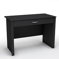 Black Laptop Computer Desk with Keyboard Tray Drawer
